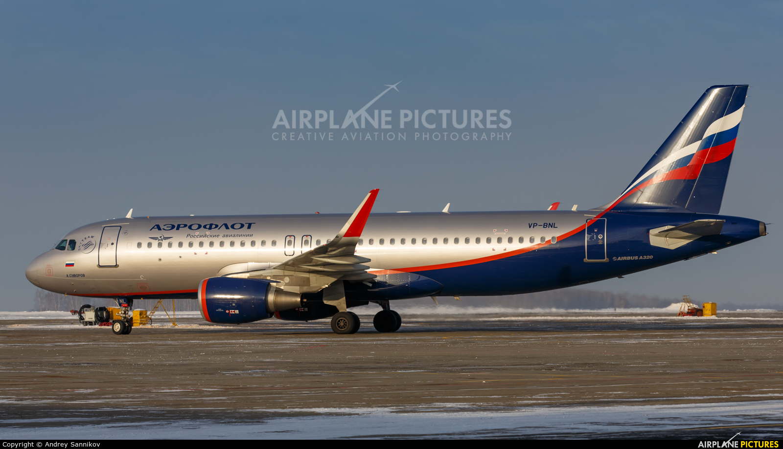 Aeroflot VP-BNL aircraft at Chelyabinsk