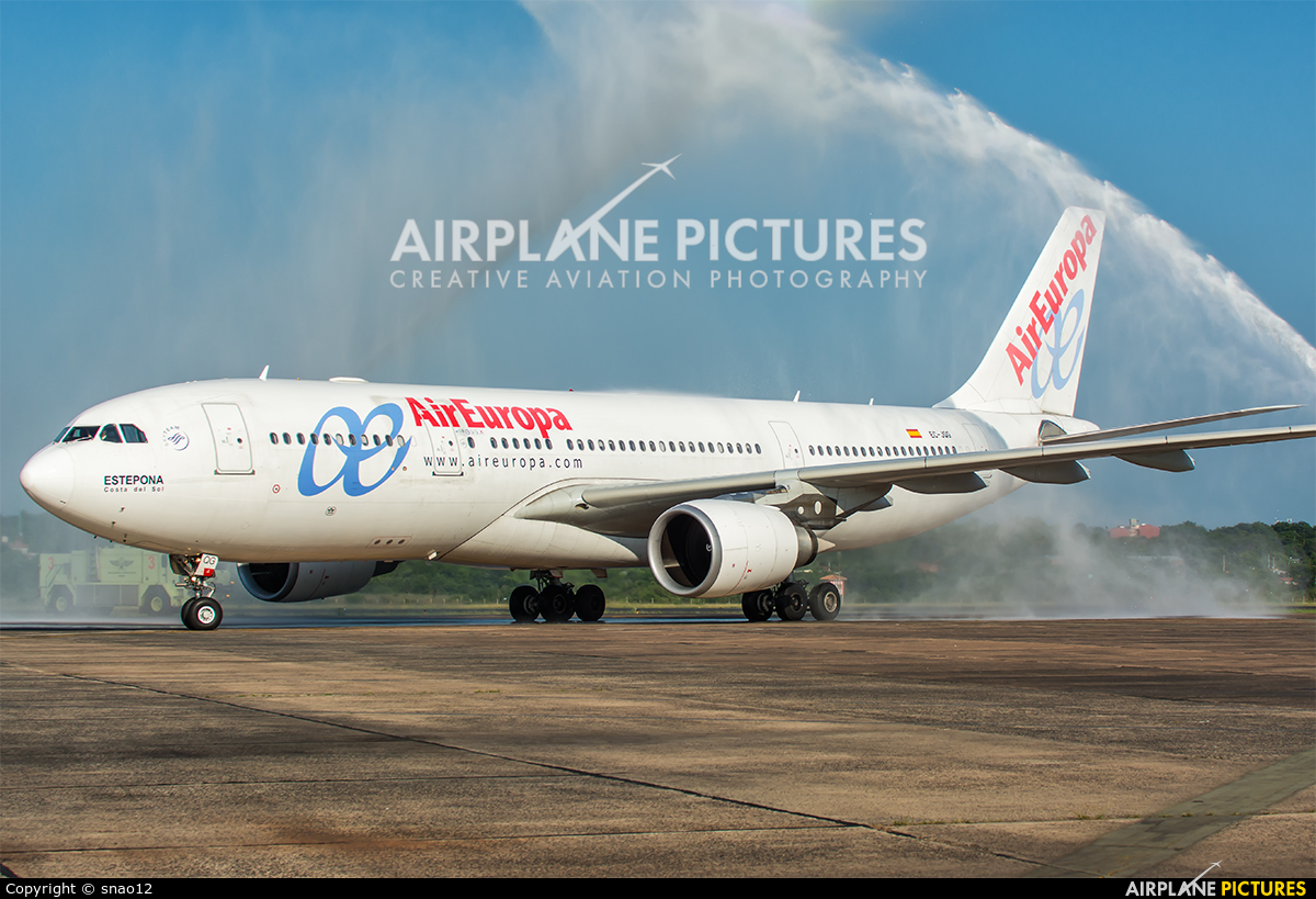 Air Europa EC-JQG aircraft at Asuncion - Silvio Pettirossi Intl
