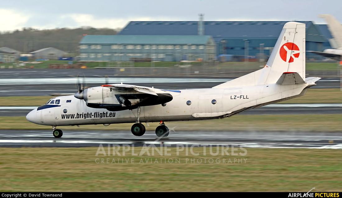 Bright Flight LZ-FLL aircraft at Prestwick