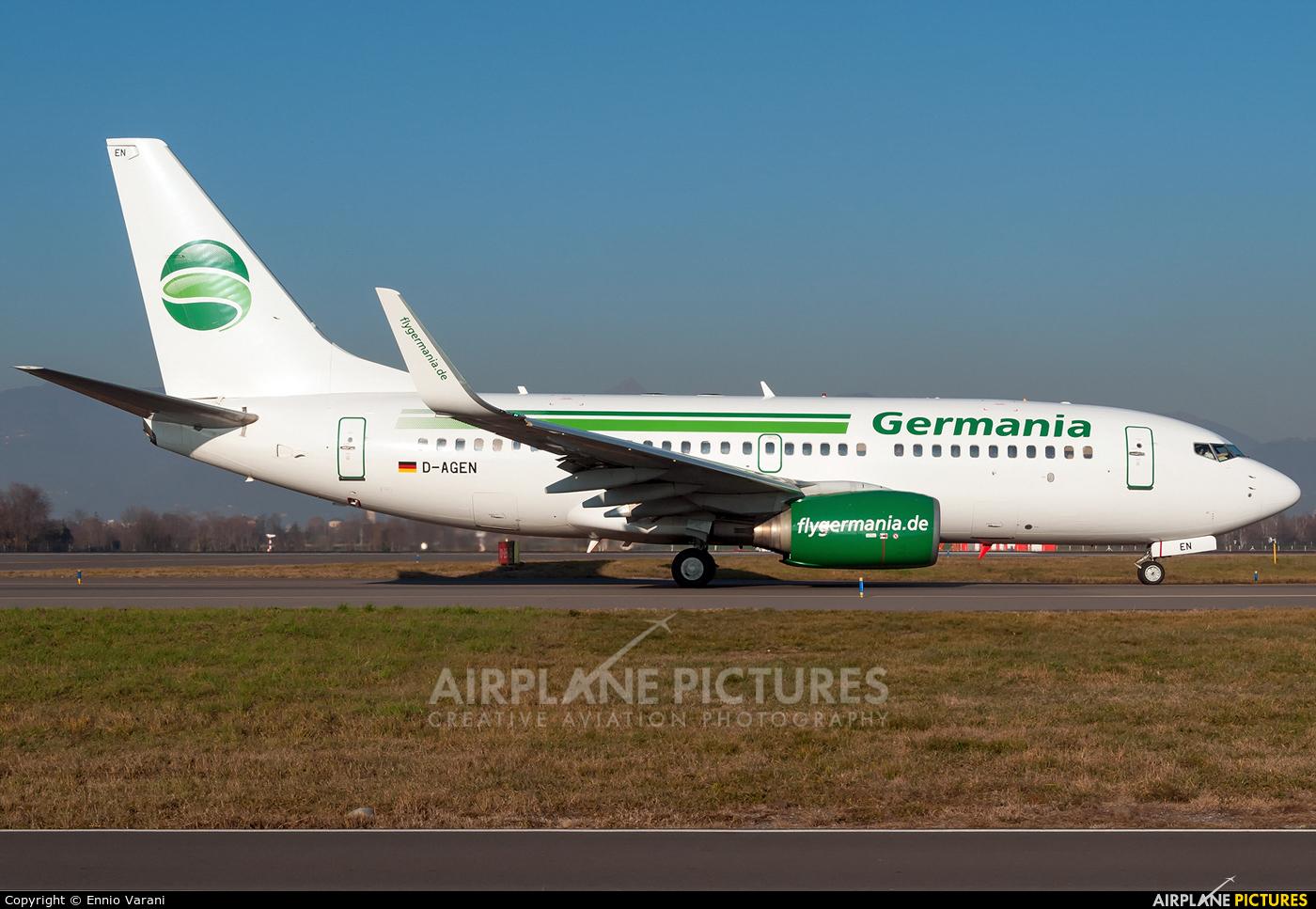 Germania D-AGEN aircraft at Bergamo - Orio al Serio