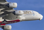 A6-EOJ - Emirates Airlines Airbus A380 aircraft