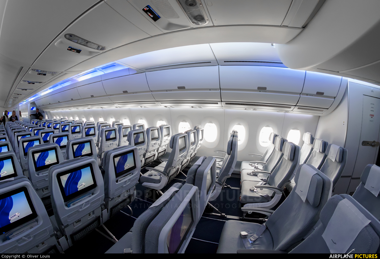 French Home Interior Oh Lwa Finnair Airbus A350 900 At Frankfurt Photo Id