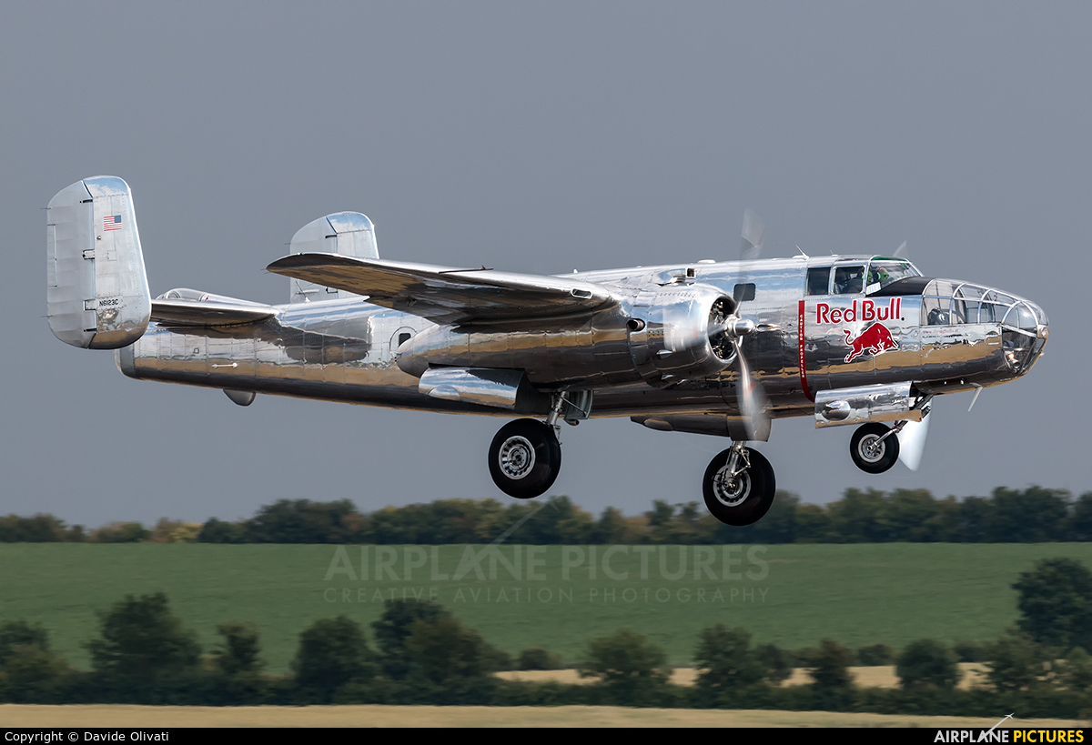 The Flying Bulls N6123C aircraft at Duxford