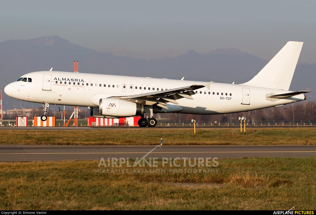 Al Masria SU-TCF aircraft at Bergamo - Orio al Serio