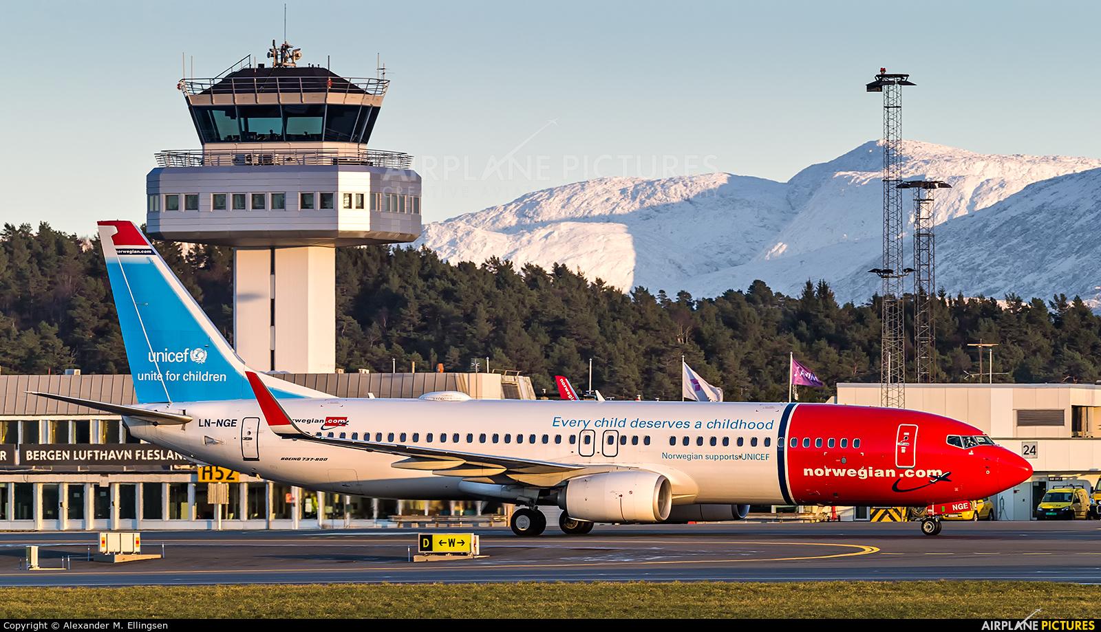 Norwegian Air Shuttle LN-NGE aircraft at Bergen - Flesland