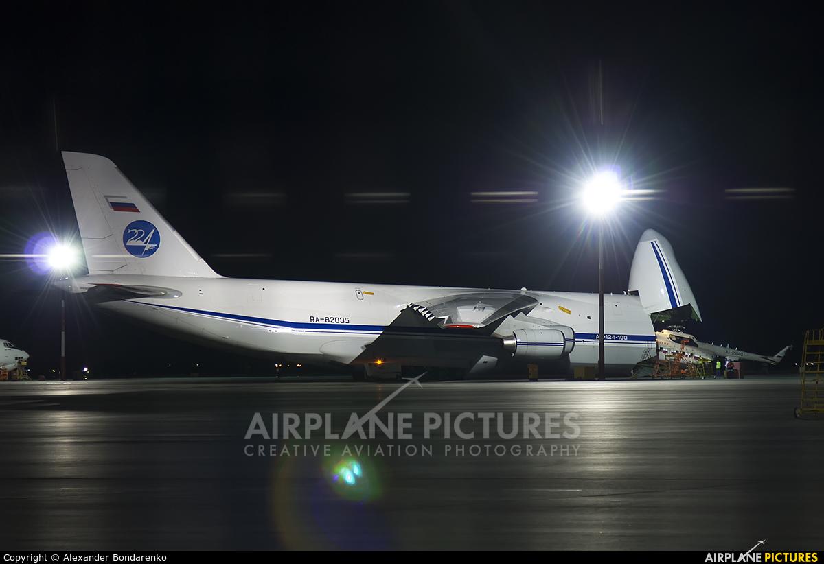 224 Flight Unit RA-82035 aircraft at Abakan