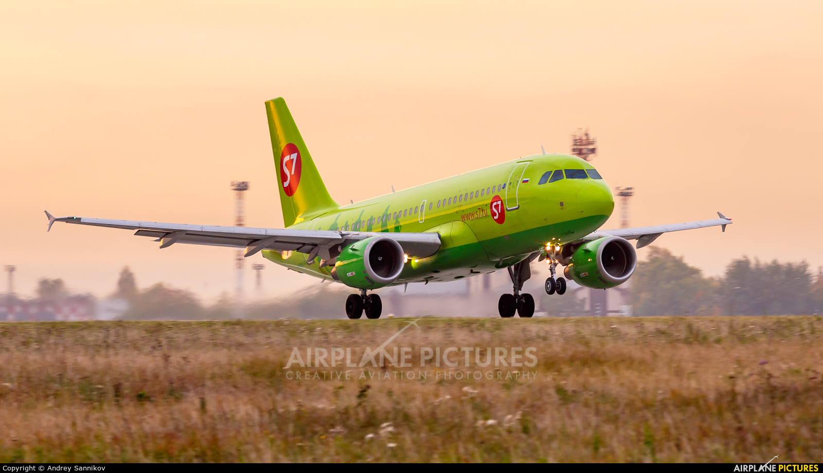 S7 Airlines VP-BHF aircraft at Chelyabinsk