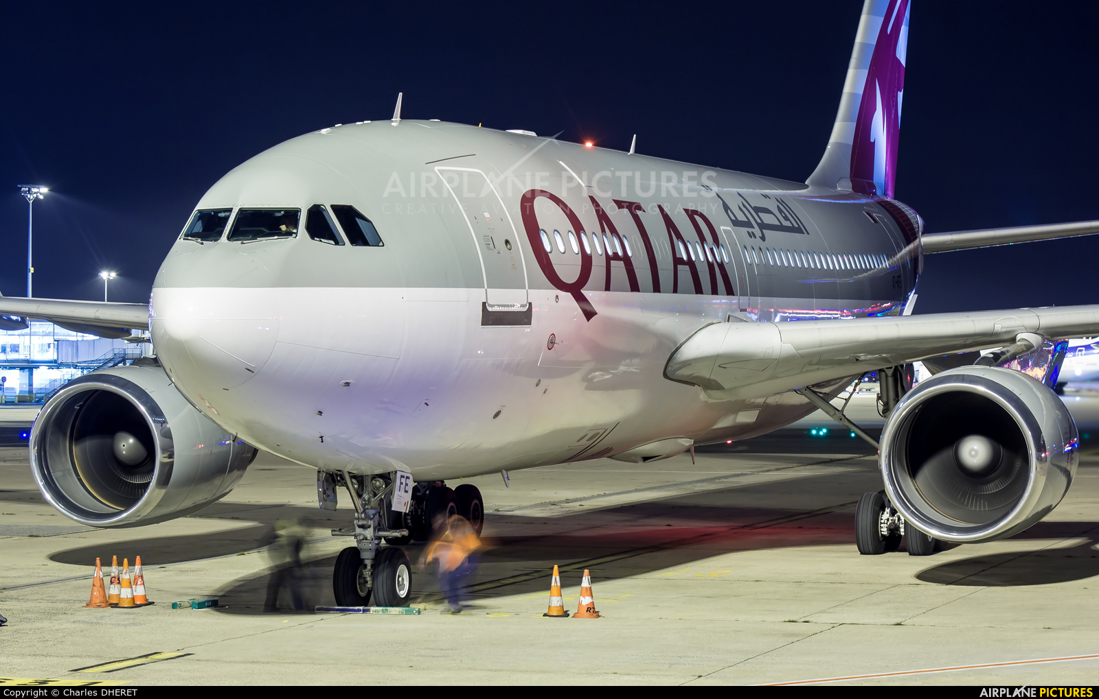 Qatar Amiri Flight A7-AFE aircraft at Paris - Charles de Gaulle