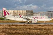 D-AXAN - Qatar Airways Airbus A320 NEO aircraft