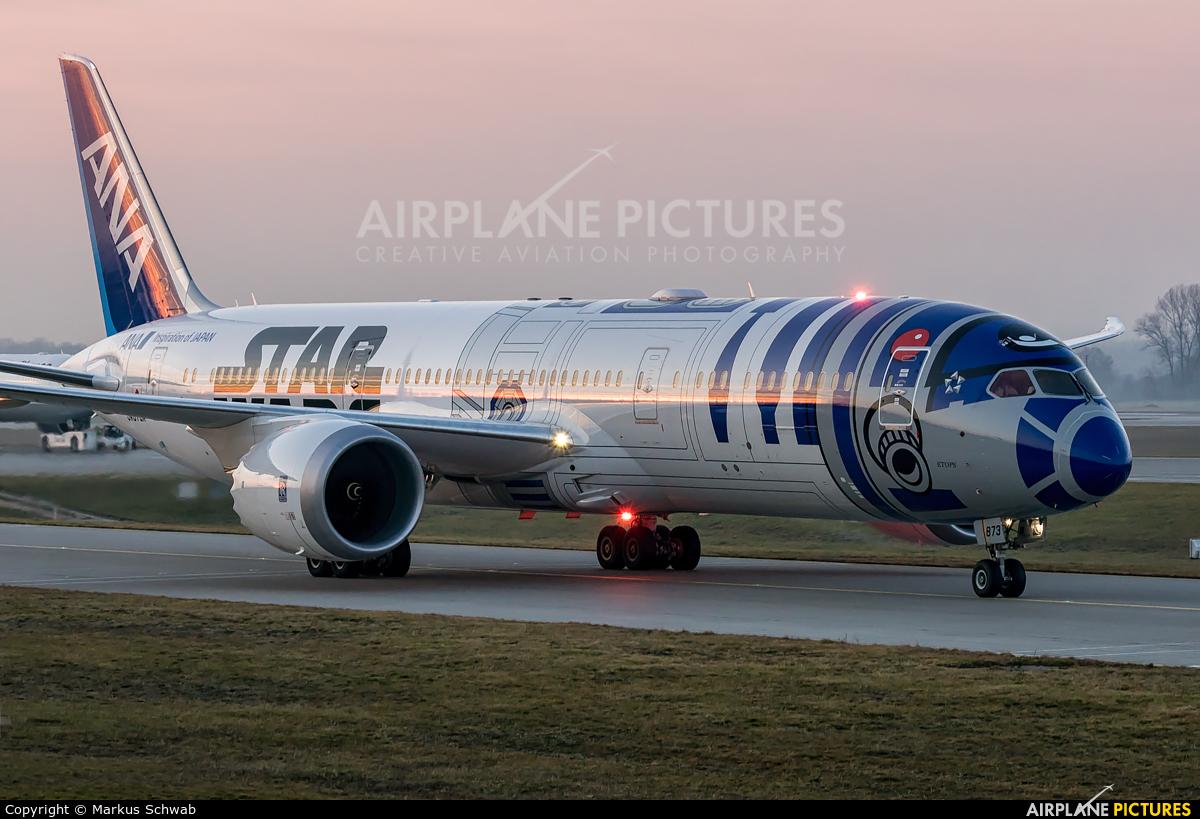 ANA - All Nippon Airways JA873A aircraft at Munich