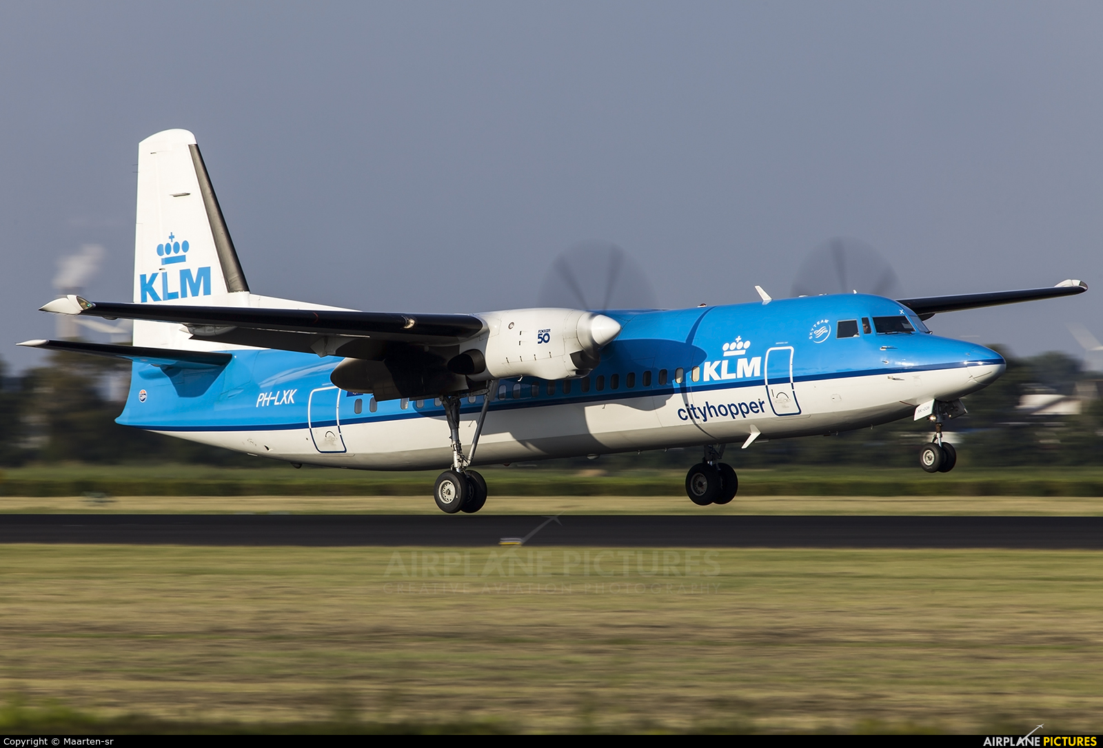 KLM Cityhopper PH-LXK aircraft at Amsterdam - Schiphol
