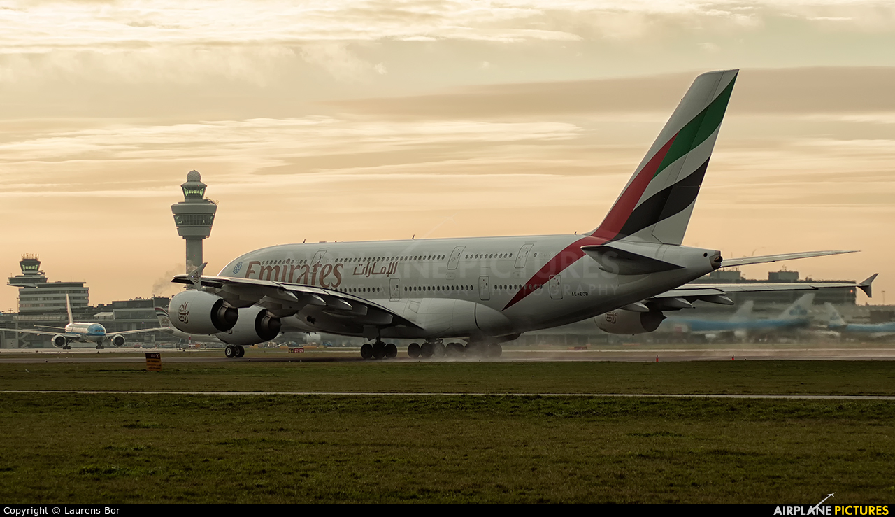 Emirates Airlines A6-EOB aircraft at Amsterdam - Schiphol