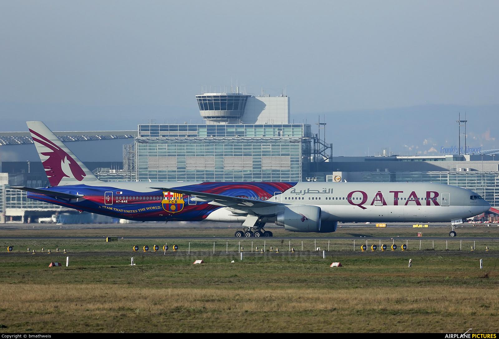 Qatar Airways A7-BAE aircraft at Frankfurt