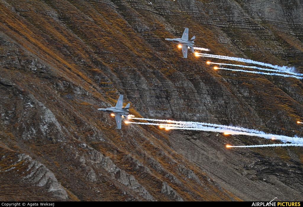 Switzerland - Air Force J-5026 aircraft at Axalp - Ebenfluh Range