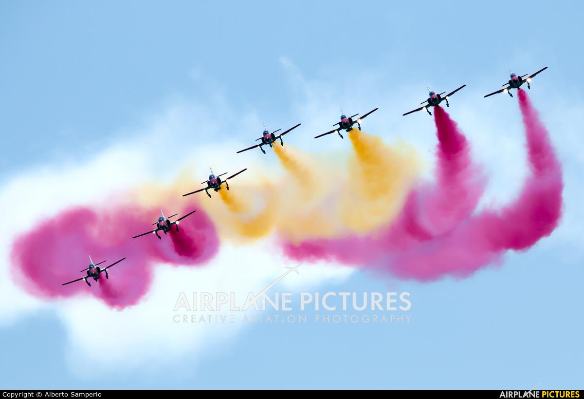 Spain - Air Force : Patrulla Aguila E.25-28 aircraft at Murcia - Los Alcázares
