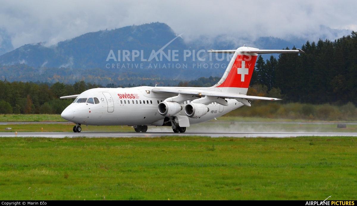 Swiss HB-IXQ aircraft at Ljubljana - Brnik