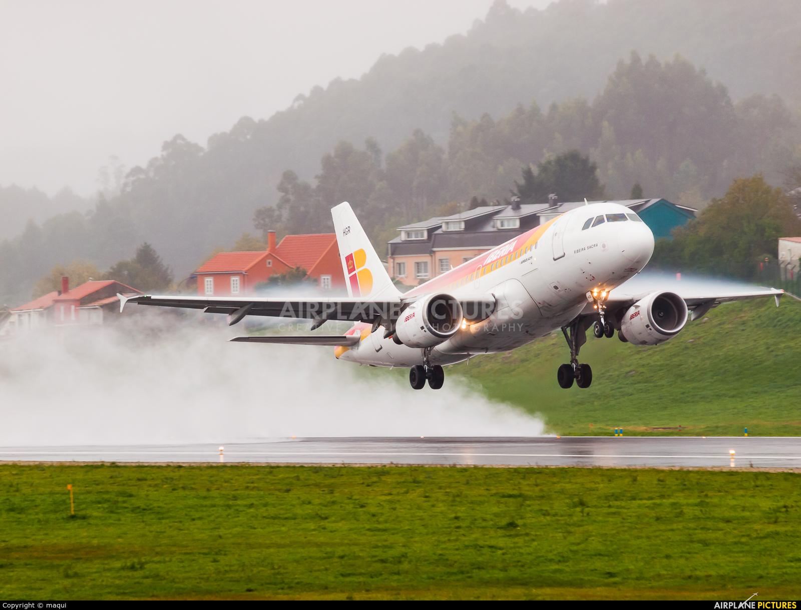 Iberia EC-HGR aircraft at La Coruña