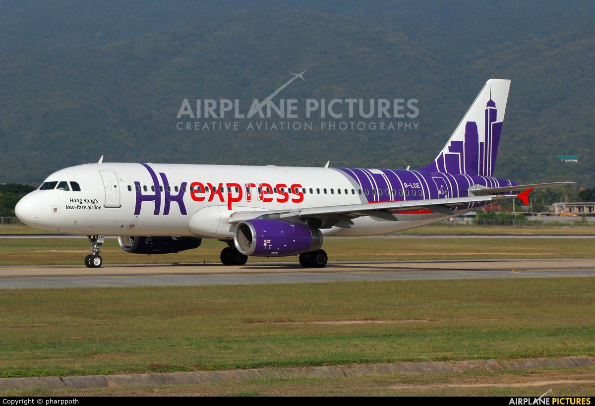 Hong Kong Express B-LCE aircraft at Chiang-Mai