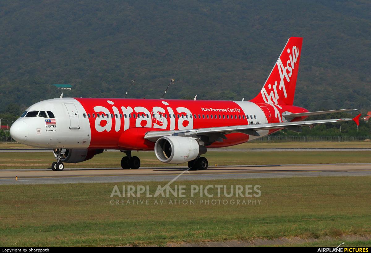 AirAsia (Malaysia) 9M-AHA aircraft at Chiang-Mai