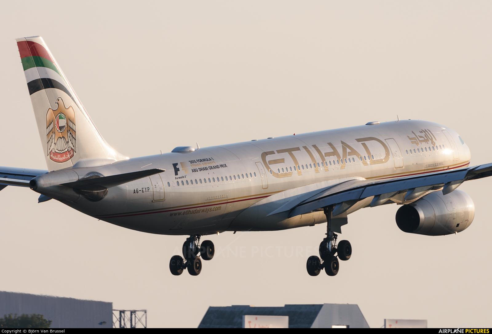 Etihad Airways A6-EYP aircraft at Brussels - Zaventem