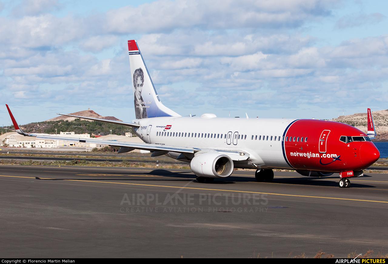 Norwegian Air International EI-FHW aircraft at Las Palmas de Gran Canaria