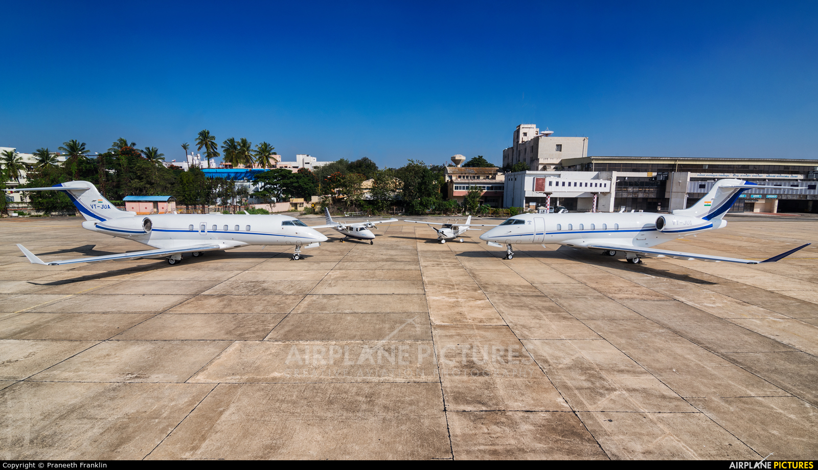 Private VT-JUI aircraft at HAL Bangalore Intl
