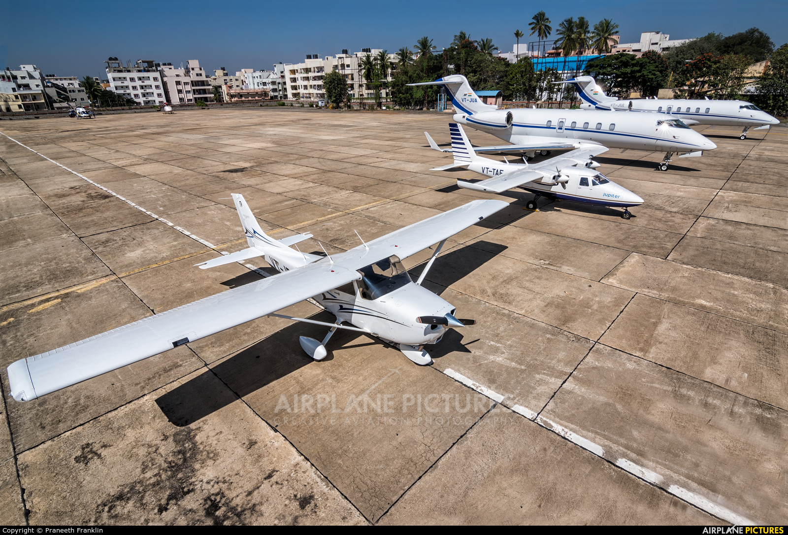 Private VT-JRC aircraft at HAL Bangalore Intl