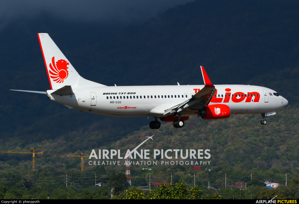 Thai Lion Air HS-LUJ aircraft at Chiang-Mai