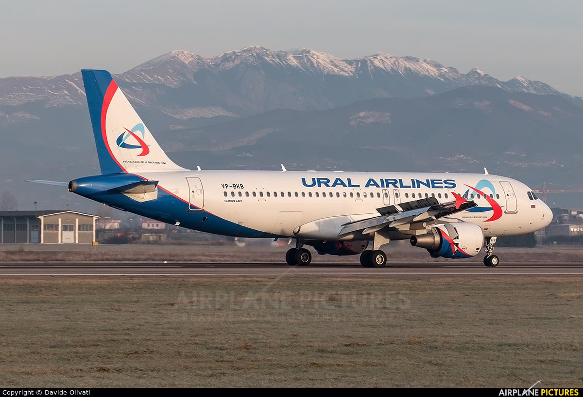Ural Airlines VP-BKB aircraft at Verona - Villafranca