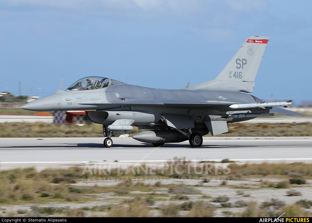 USA - Air Force 91-0416 aircraft at Chania