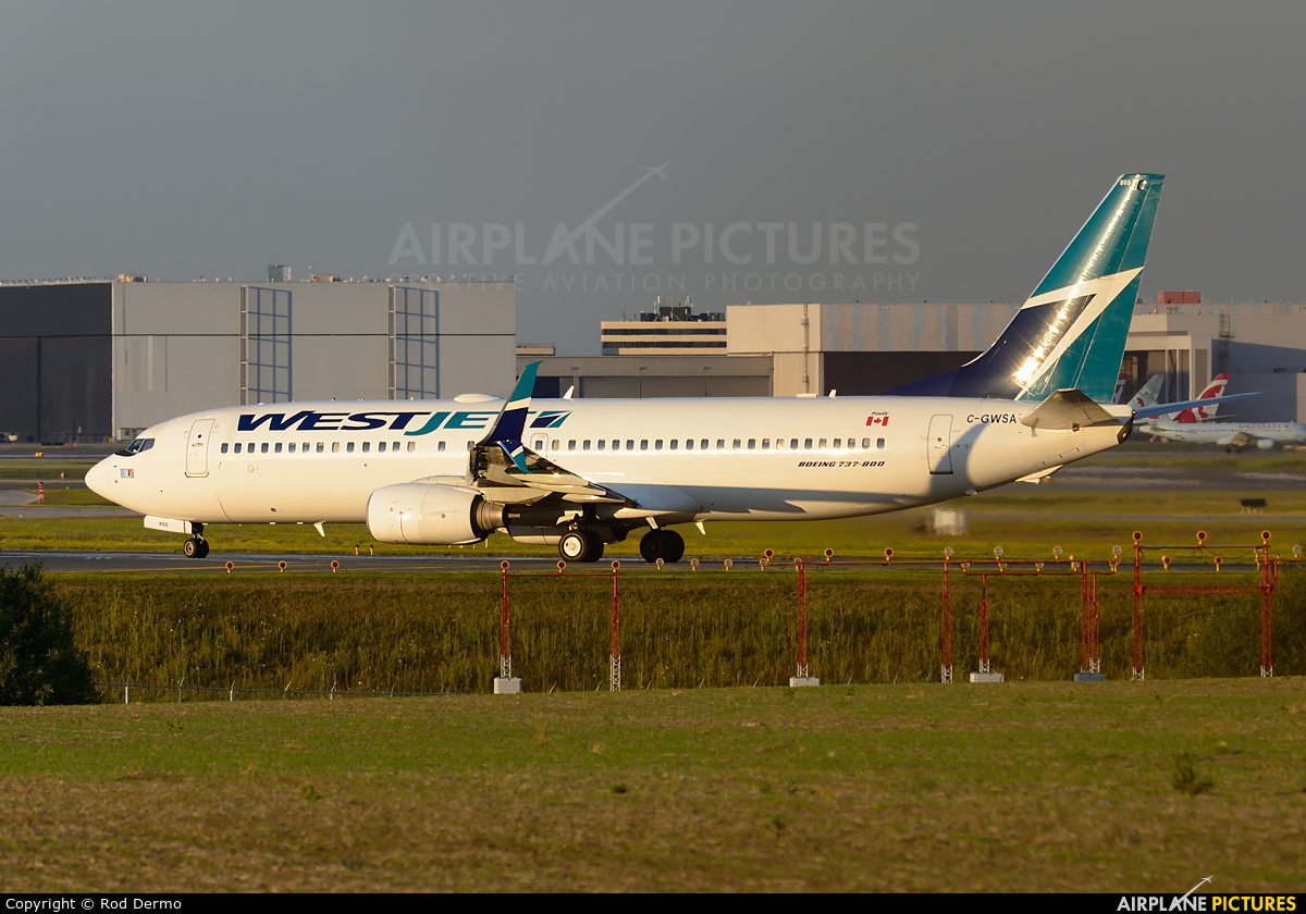 WestJet Airlines C-GWSA aircraft at Toronto - Pearson Intl, ON