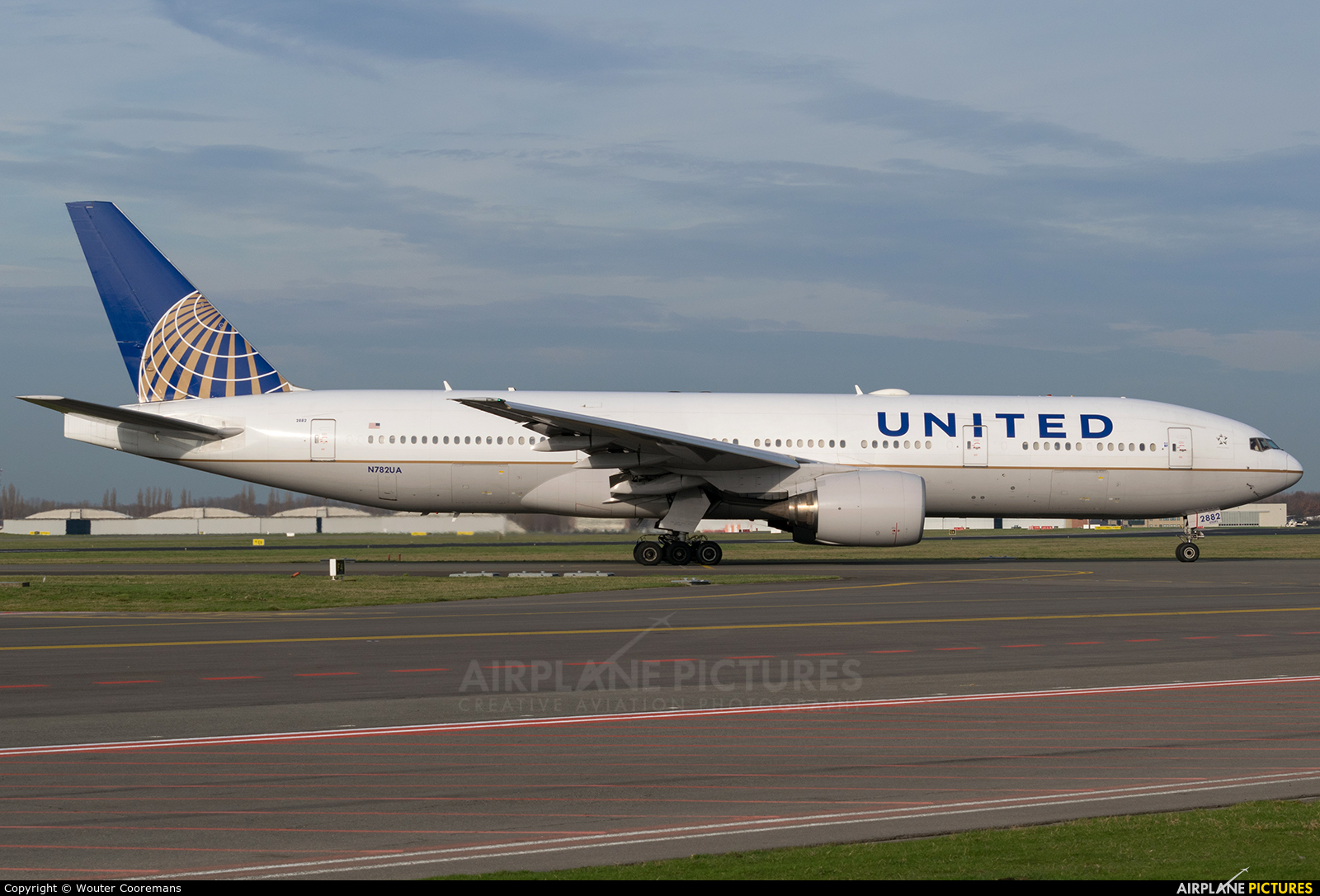 United Airlines N782UA aircraft at Brussels - Zaventem