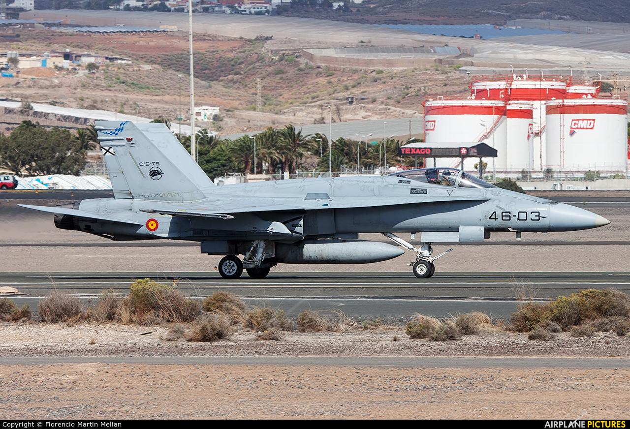 Spain - Air Force C.15-75 aircraft at Las Palmas de Gran Canaria