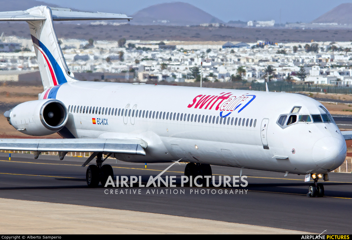 Swiftair EC-KCX aircraft at Lanzarote - Arrecife