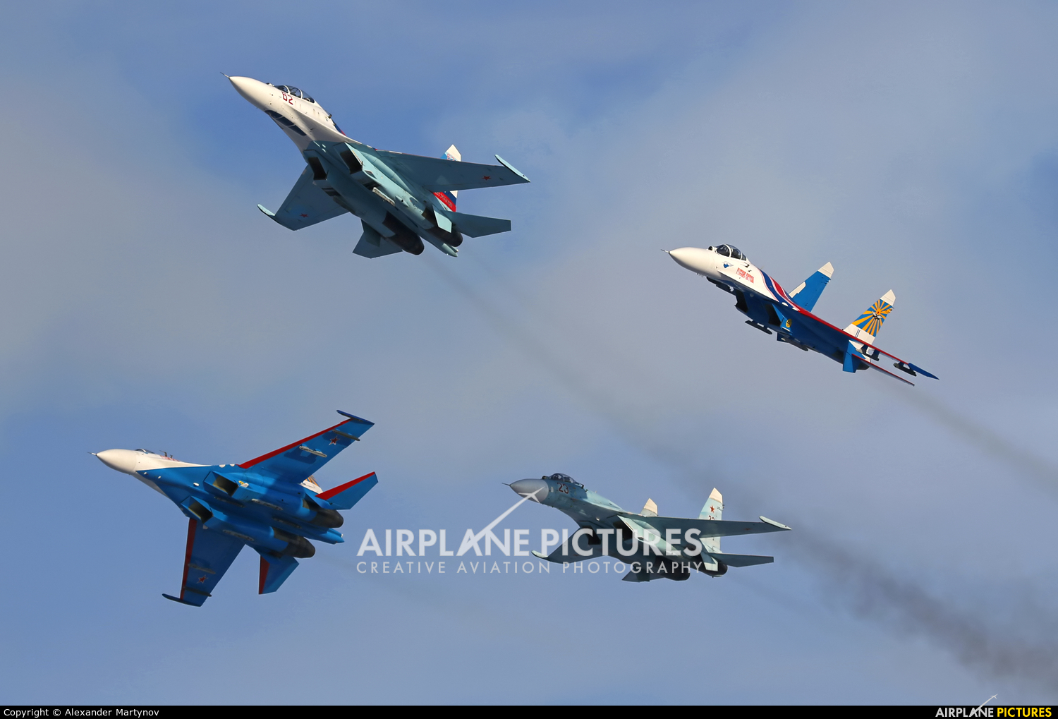 """Russia - Air Force """"Russian Knights"""" - aircraft at Off Airport - Russia"""