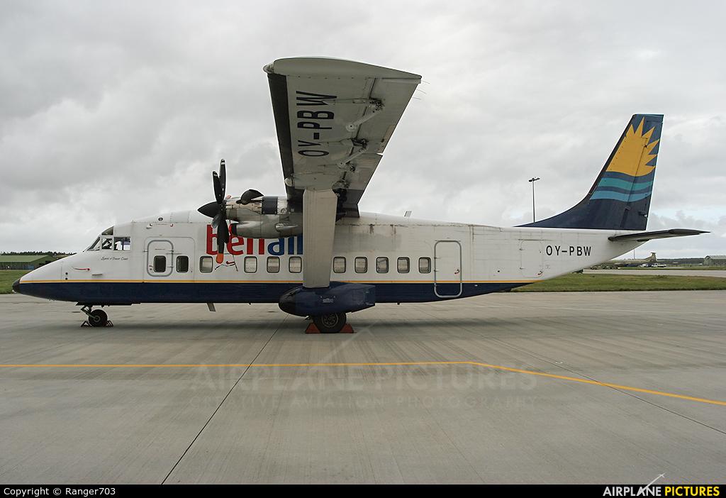 Benair OY-PBW aircraft at Kinloss