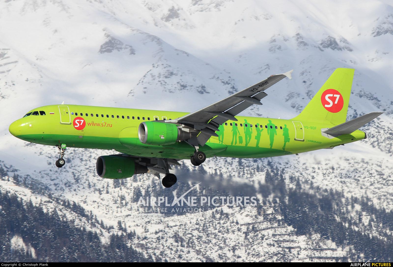 S7 Airlines VQ-BDF aircraft at Innsbruck