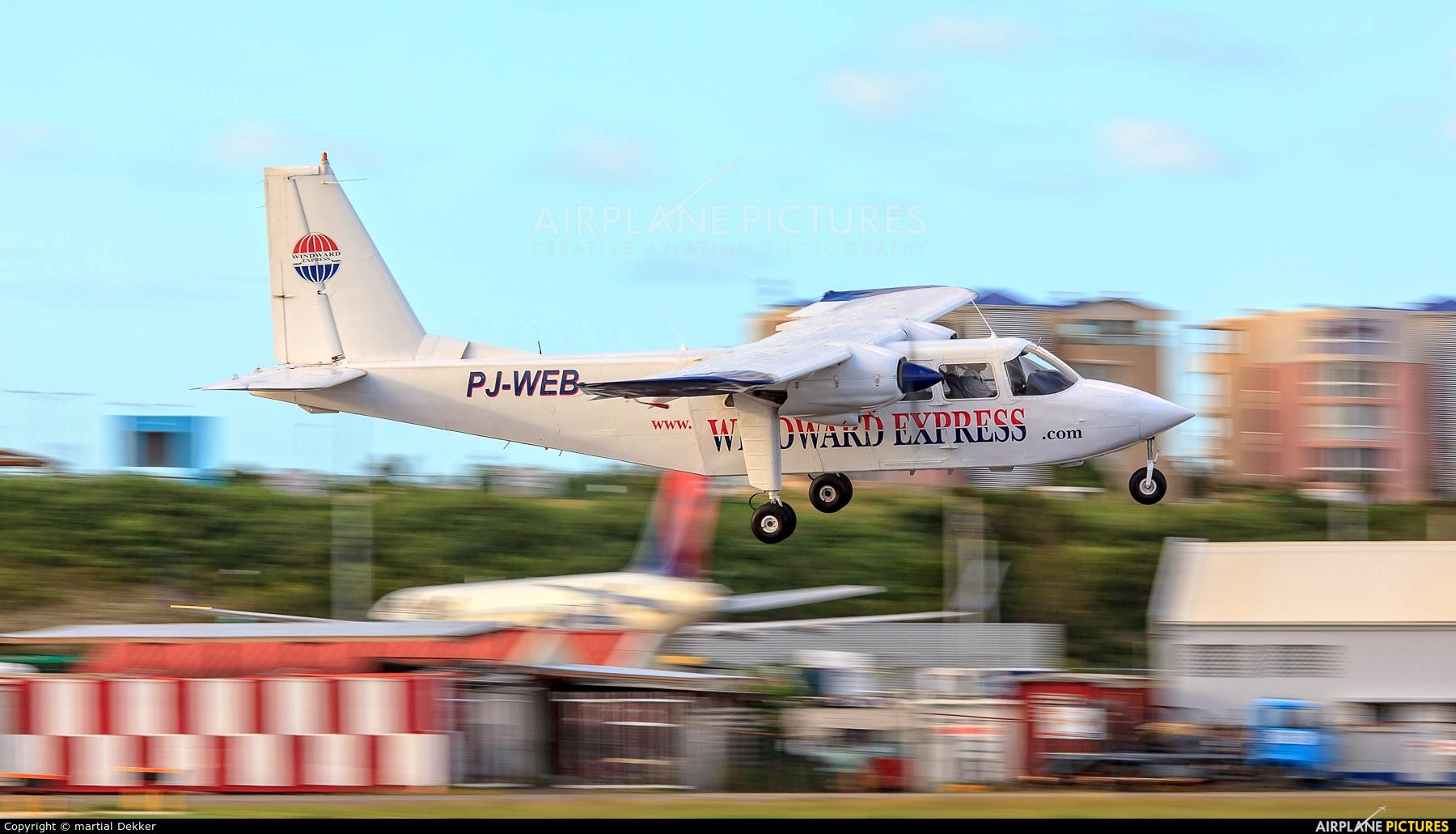 Winward Express PJ-WEB aircraft at Sint Maarten - Princess Juliana Intl