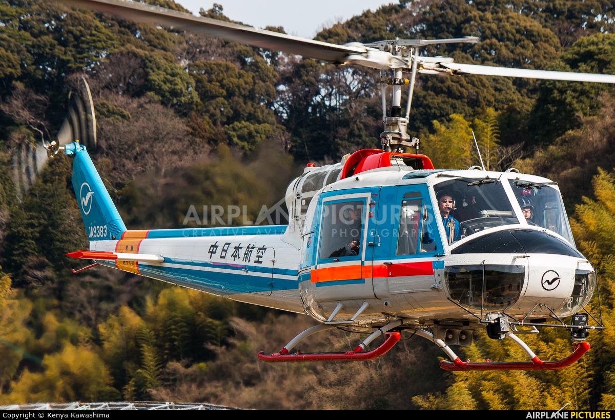 Nakanihon Air Service JA9383 aircraft at Shizuoka Heliport