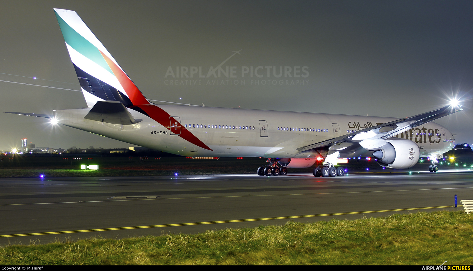 Emirates Airlines A6-ENS aircraft at Dublin
