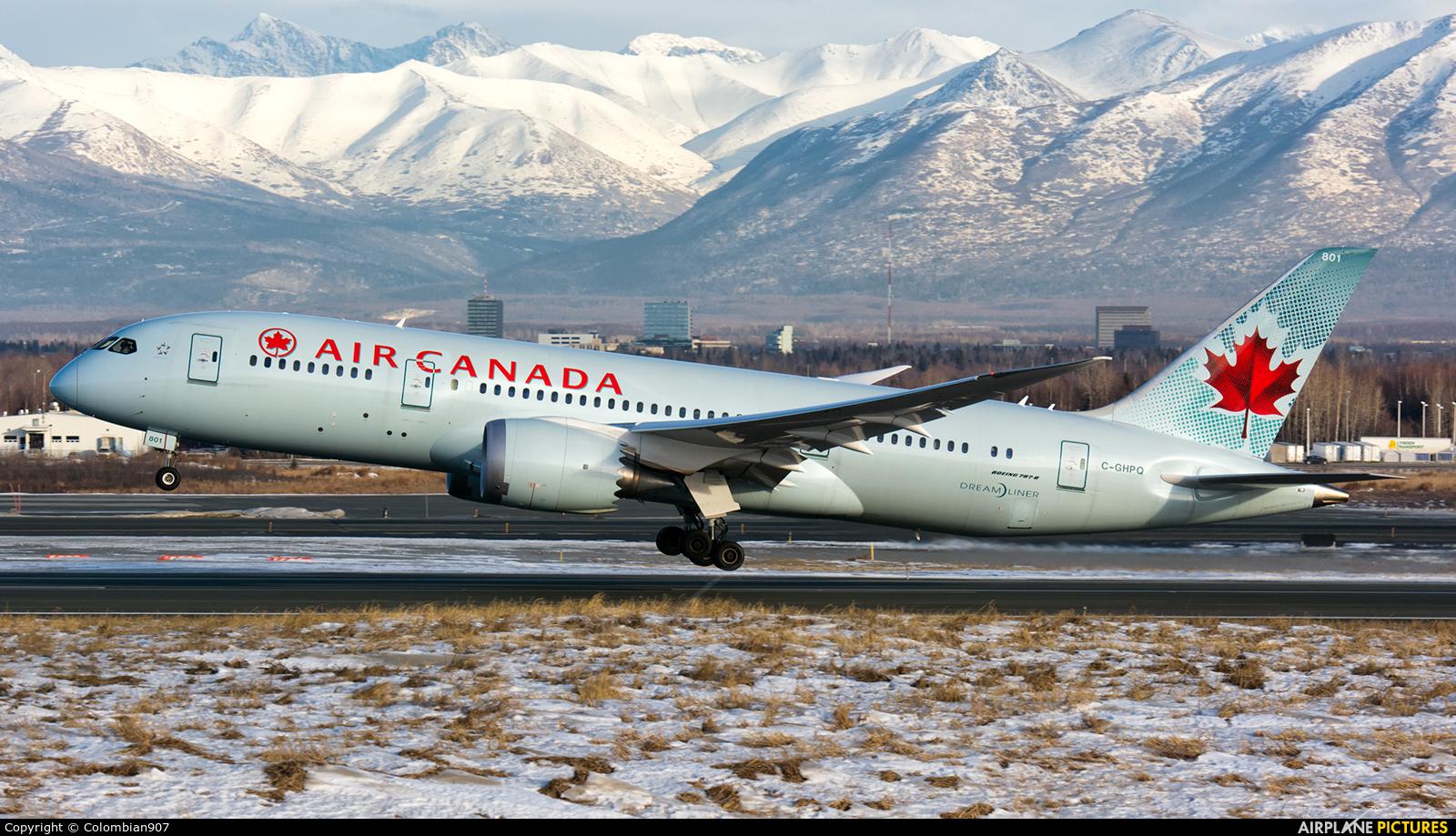 C Ghpq Air Canada Boeing 787 8 Dreamliner At Anchorage