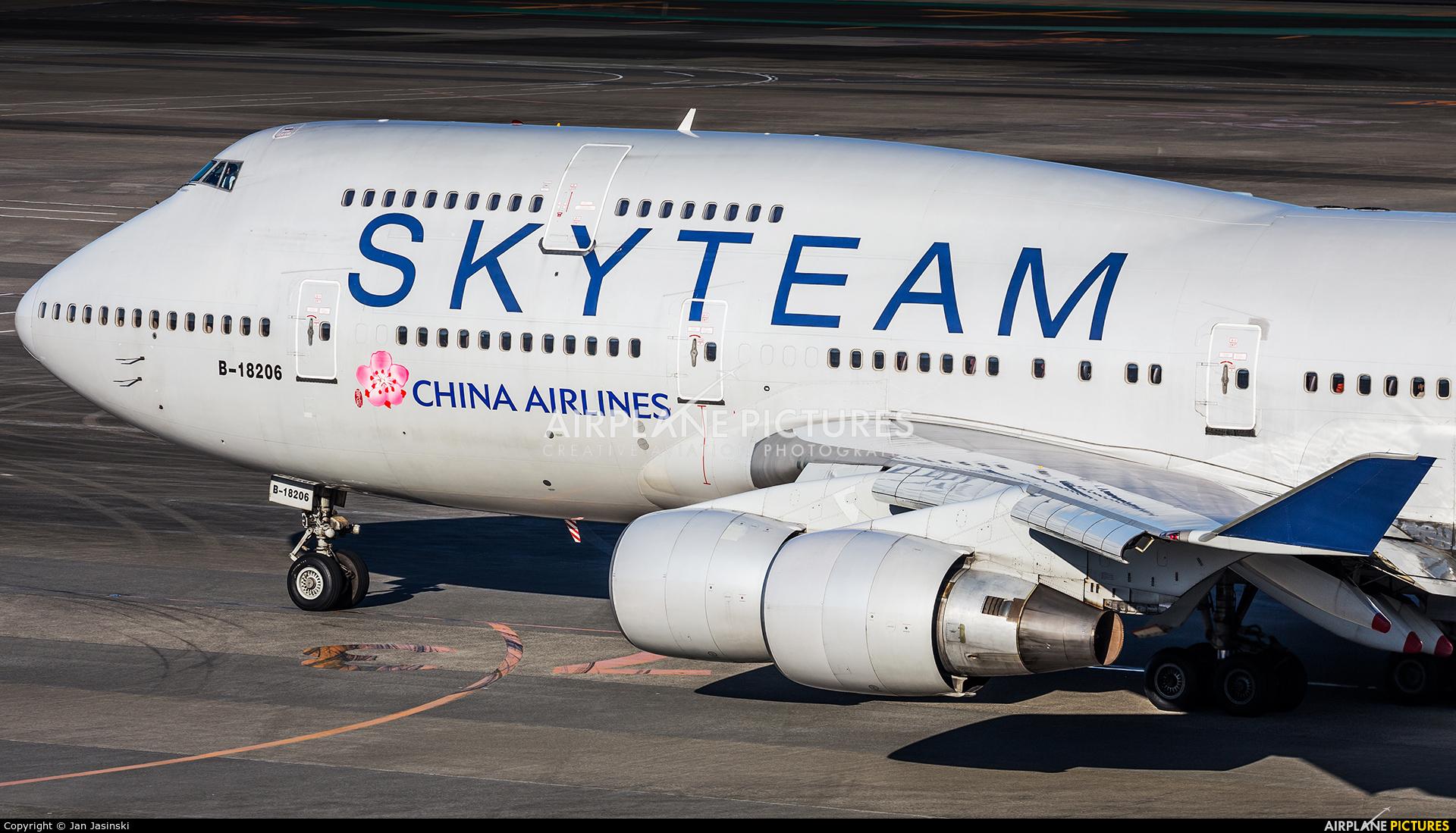 China Airlines B-18206 aircraft at Tokyo - Narita Intl