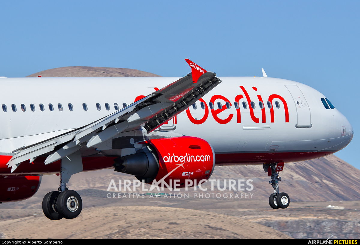 Air Berlin D-ABCC aircraft at Lanzarote - Arrecife