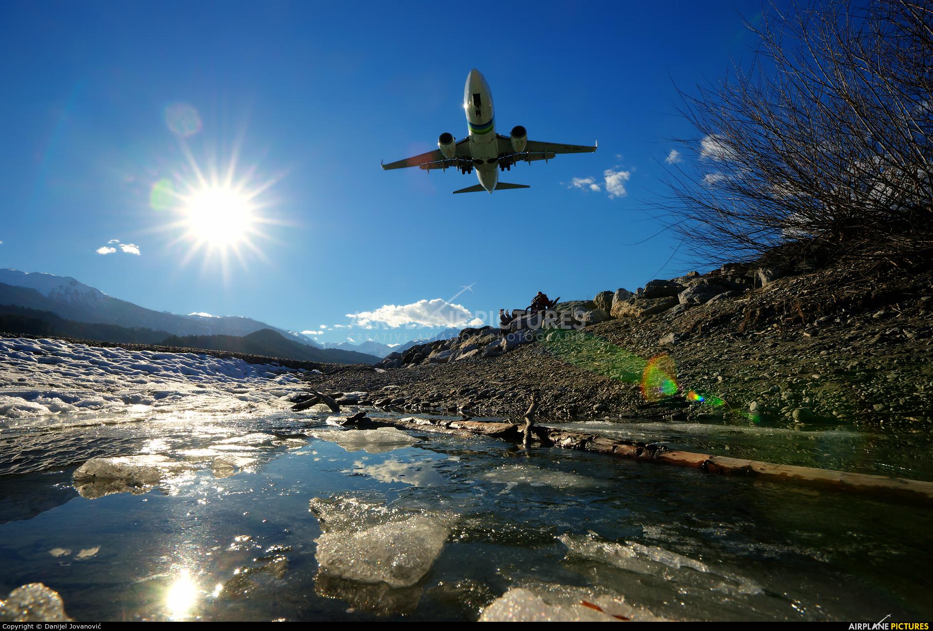 Transavia PH-XRA aircraft at Innsbruck