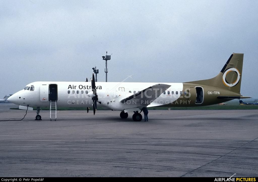 Air Ostrava OK-TFN aircraft at Prague - Václav Havel