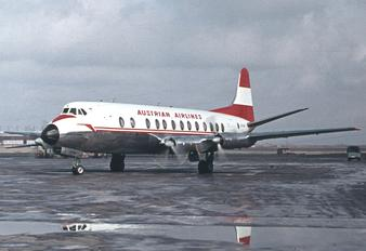 OE-LAH - Austrian Airlines/Arrows/Tyrolean Vickers Viscount