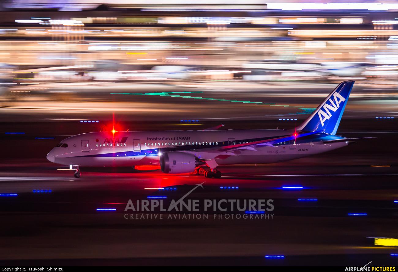 ANA - All Nippon Airways JA834A aircraft at Tokyo - Haneda Intl