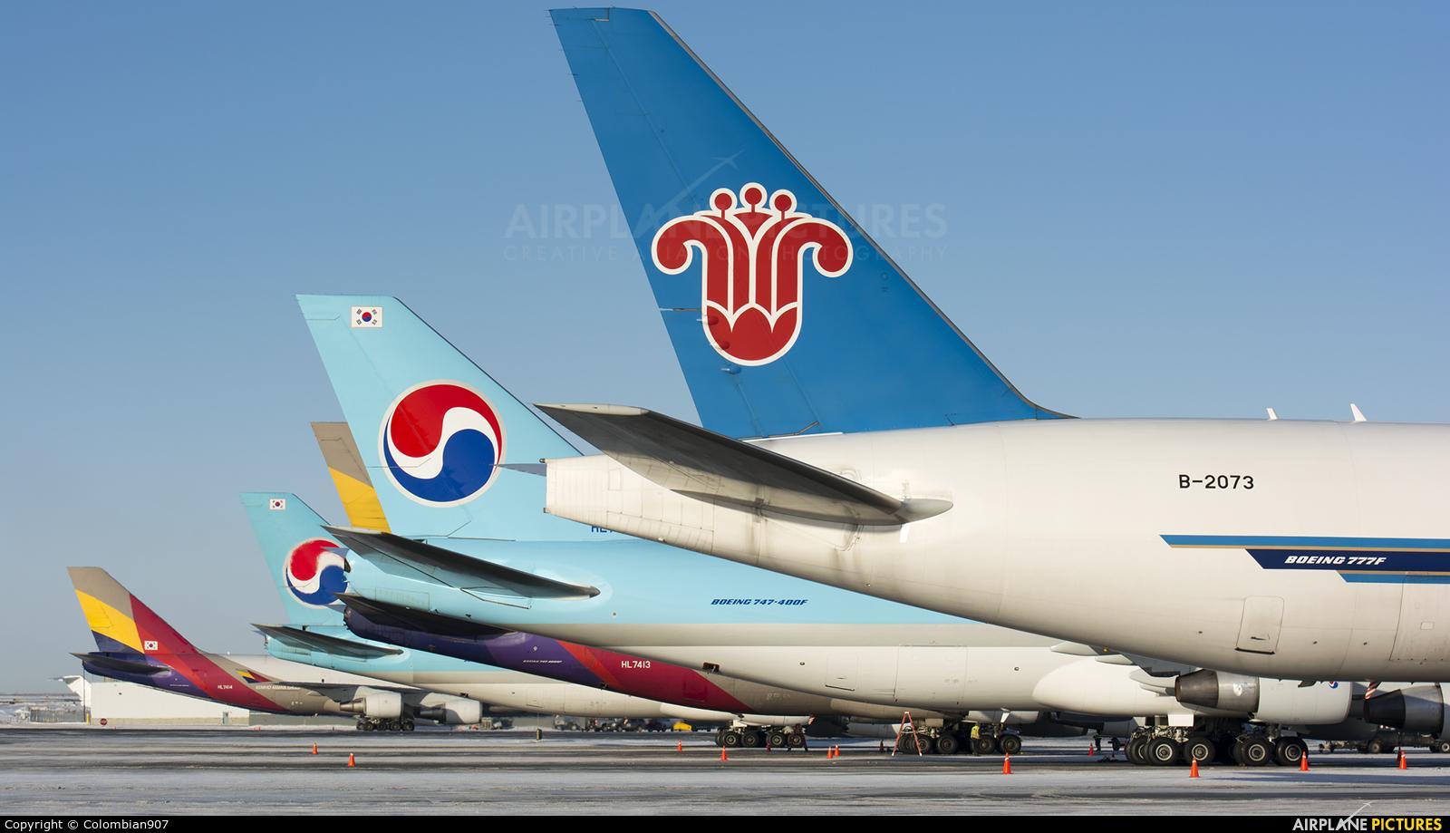 China Southern Cargo B-2073 aircraft at Anchorage - Ted Stevens Intl / Kulis Air National Guard Base