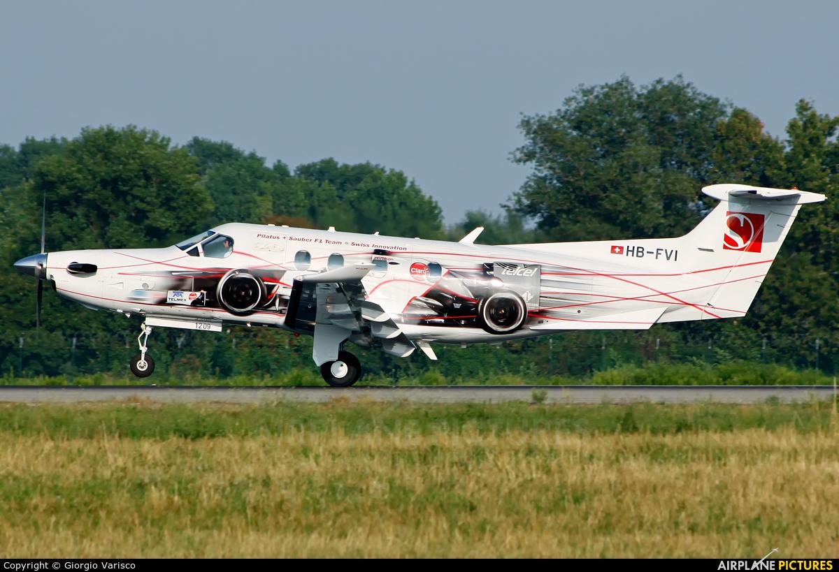 Private HB-FVI aircraft at Milan - Linate