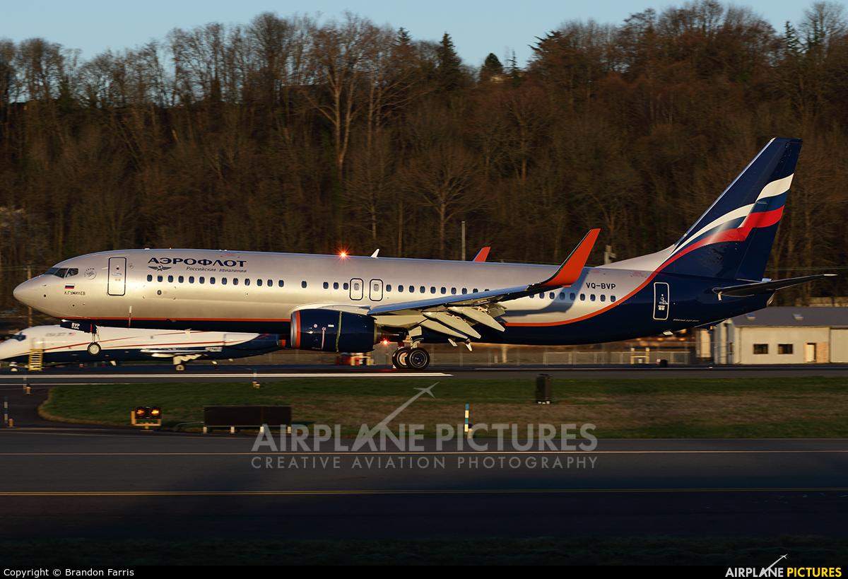 Aeroflot VQ-BVP aircraft at Seattle - Boeing Field / King County Intl